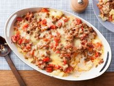 Beef and Cheddar Casserole : Try a new take on the casserole — a standby one-dish dinner. This one combines hearty ground beef with cheddar and egg noodles.