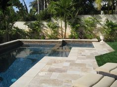 Travertine pavers Manhattan Beach - Pool - Los Angeles - Bill Murphey & Associates
