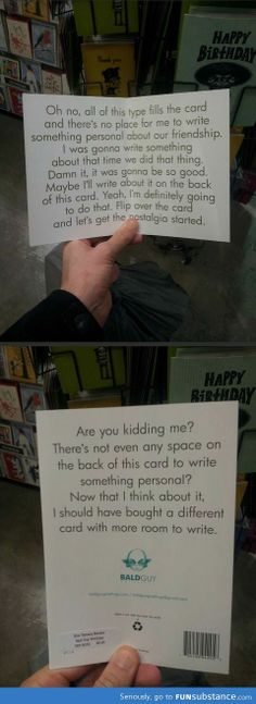Perfect card for when you don't know what to write