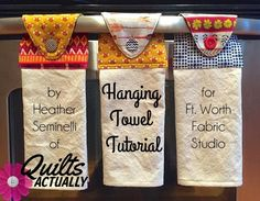 Sewing Tutorials best way to keep up with your kitchen towel is to button them to something.