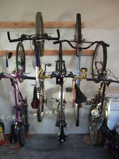 Bike Storage for 3 or more bikes using the least ammount of space.
