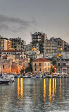 The City of Heraklion in Crete Island, Greece