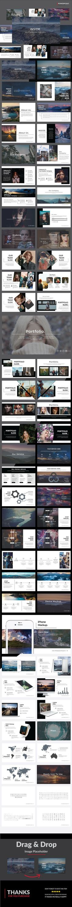Inside - Multipurpose Powerpoint - Presentation Templates #powerpoint