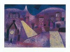 Paul Klee (1879-1940), Winterlandschaft (Violette Dominante) [Winter Landscape (Dominant Violet)], 1923 (10). Oil on cardboard. 24.2cm H x 35.8cm W. (Center Pompidou, Paris).