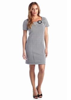 Rabbit Rabbit Rabbit  Petite Hounds-tooth Sheath Dress