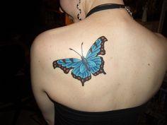 Butterfly-tattoo-on-back | HD Wallpaper Backgrounds