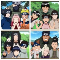 All Konoha teams from that year! Team Kakashi (squad 7), team guy, team Kurenai (squad 8), and team Asuma (squad 10)