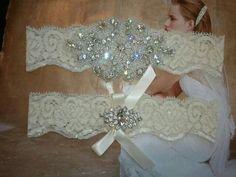 SALE - Shop Best Seller - Wedding Garter, Bridal Garter, Garter Set - Crystal Rhinestone - Style G2047. $24.50, via Etsy.