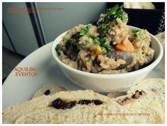 Risotto de pollo y hongos silvestres servido en cazuela - Aquilino restaurante - Villa Elisa
