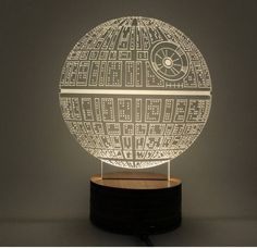 Star Wars Death Star Hologram 3D Light Table Desk LED Lamp Engraving Night Light Home Decor - GeeksMoviesStuff - 3