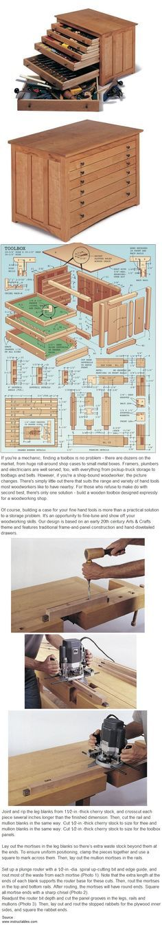 Build a Woodworker's Toolbox by Popular Mechanics --- for jewelry instead of tools