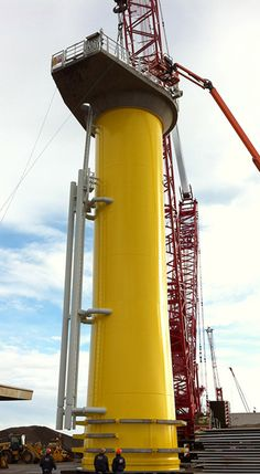 Monopile foundation and transition pieces are being manufactured by Baldt Industries. Watch more images @ http://www.power-technology.com/projects/west-of-duddon-sands-offshore-wind-farm/