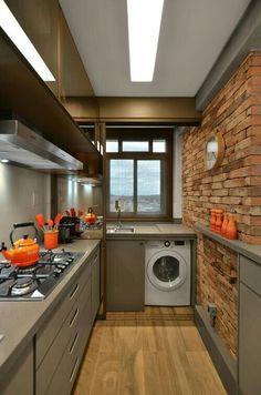 20 simple kitchen decoration in small house 8 Kitchen Dining, Kitchen Decor, Kitchen Ideas, Kitchen Room Design, Studio Kitchen, Kitchen Designs, Kitchen Island, Minimalist Kitchen, Minimalist Style