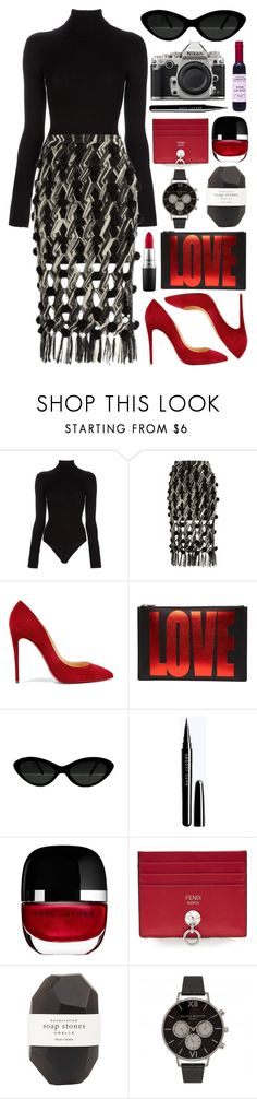 """""""Untitled #1037"""" by clary94 ❤ liked on Polyvore featuring L'Agence, Tabula Rasa, Christian Louboutin, Givenchy, Nikon, Marc Jacobs, Fendi, Pelle and Olivia Burton"""