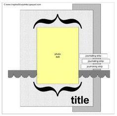 Inspired Blueprints | Sketch 23  #inspiredblueprints #scrapbooking #sketch