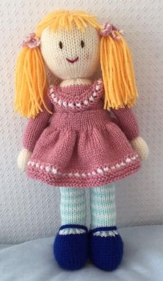 Hand knitted doll by DreamDollies on Etsy