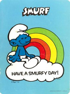 ♥ Smurfs (cartoon) - Funny how things come back to haunt us. Just look at the 2 live action Smurf movies.or maybe you better not. Old School Cartoons, Old Cartoons, Funny Cartoons, Comic Book Characters, Comic Character, Smurfette, Saturday Morning Cartoons, 80s Kids, Old Tv Shows