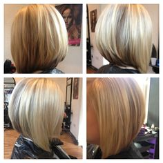 Love this cut, thinking about doing this again...and of course I love being blonde