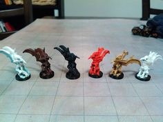 #3dprinted Mephits for my #DnD campaign! Download files here: http://ift.tt/1r2iRg6 #3dprinting #gaming #dungeonsanddragons #dm #tabletop #rpg #3dmodeled #printrbot #blender #elements #demons #devil #art #imadethis #imadeit #minipainting by mz4250