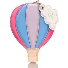Kate Spade Get Carried Away Hot Air Balloon Coin Purse ($78) ❤ liked on Polyvore featuring bags, wallets, kate spade, coin purse, coin pouch, kate spade bags and kate spade wallet