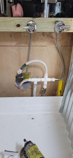 Plumbing set up skoolie