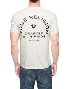 17c706f56664c True Religion  Crafted With Pride  Logo Tee