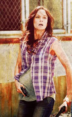 Pregnant Lori from the Walking Dead