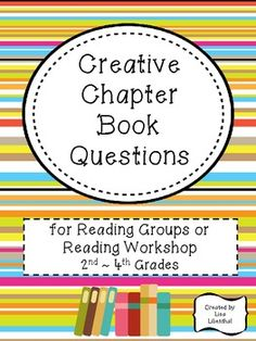 This 31 page packet is great for reading groups or reading workshop. Included in this reading packet:  ~reading log cover page  ~guided reading group suggestions  ~20 different questions /4 per page  ~25 pages with various combinations of questions, some geared to the beginning and end of a story  ~appropriate for 2nd-4th grade