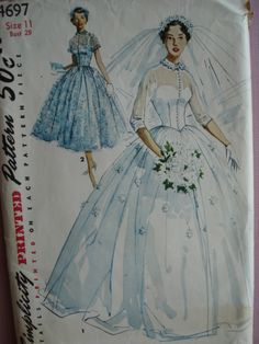 Spectacular I um sure many mother us did make their daughter us wedding gowns in the fifties My mother will be making mine I cant wait