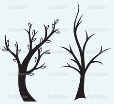 силуэт дерева - Векторная картинка: 33811719