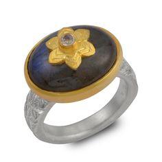 Mini Treasure Blue Tourmaline Ring | Emma Chapman Jewels | Wolf & Badger