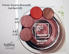 Jan 1 Bronze & Cad Red   #Polymer #Clay #Colormix