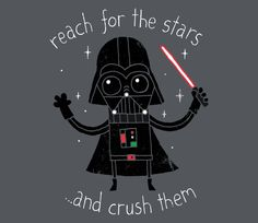 Reach For The Stars T-Shirt - Darth Vader T-Shirt is $11 today at TeeFury!
