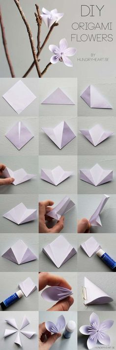 Best Origami Tutorials - Flower Origami - Easy DIY Origami Tutorial Projects for With Instructions for Flowers, Dog, Gift Box, Star, Owl, Buttlerfly, Heart and Bookmark, Animals - Fun Paper Crafts for Teens, Kids and Adults diyprojectsfortee...