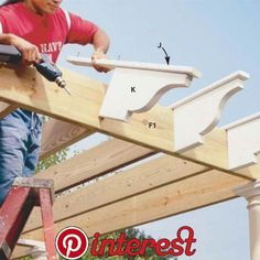 How to Build a Pergola How to Build a Pergola,Garten Looking to create a cool, relaxing environment for backyard entertaining this summer? Try building a vine-covered cedar pergola to shade your wood deck using. Backyard Projects, Outdoor Projects, Garden Projects, Wood Projects, Garden Ideas, Patio Pergola, Cedar Pergola, Backyard Patio, Modern Pergola