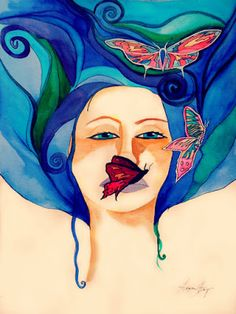 Warrior Woman, She Lives inside You an Original Watercolor Painting