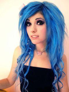 blue #dyed #hair