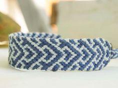 Snowy Mountain Friendship Bracelet by Shedrem on Etsy