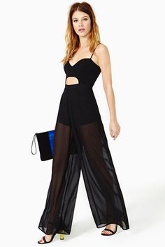 Midnight Hour Jumpsuit by Nasty Gal