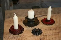 Gear Candle Holders