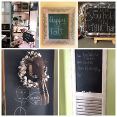 Common everyday items can be transformed into simple DIY chalkboards using spray paint or brush on paint Make A Chalkboard, Chalkboard Ideas, Easy Diy, Simple Diy, Everyday Items, Chalkboards, Furniture Restoration, Decorating On A Budget, Nifty