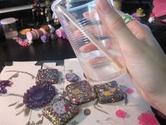 I wanted to make a post about some tips I have found working with resin. As of late I have been having so much fun working with resin, but ...