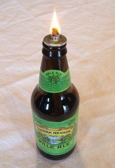 Oil lamp kit for beer bottle, set of 4 by CleverlyInspire on Etsy https://www.etsy.com/listing/45837705/oil-lamp-kit-for-beer-bottle-set-of-4