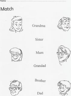 La familia en ingles para colorear - Imagui