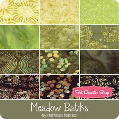 Meadow Batiks Fat Quarter Bundle<BR>Hoffman Fabrics