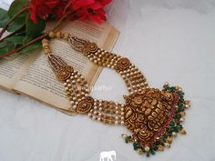 Coral Jewelry, Silver Jewellery, Indian Jewelry, Rangoli Borders, Rangoli Border Designs, Spike Necklace, Beaded Necklace, Statement Earrings, Chains