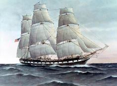 On 7 February 1800, USS Essex became the first U.S. Navy vessel to cross the Equator. This 1799 image of Essex was painted by E. Tuffnell, R.N.