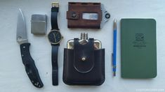 A fluid-resistant notebook might be necessary should one take too many sips from that flask in this EDC kit.