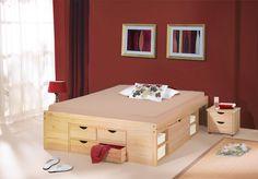 Schubkasten-Doppelbett mit viel Stauraum - Bett Oslo
