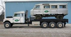Photoshop? Land Rover S1 8x8 hauling a Land Rover Forward Control.
